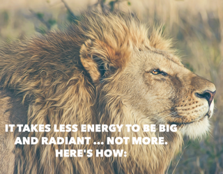 It takes less energy to be big & radiant … NOT more
