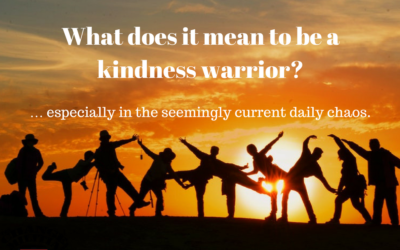 What does it mean to be a kindness warrior? … especially in the seemingly current daily chaos.